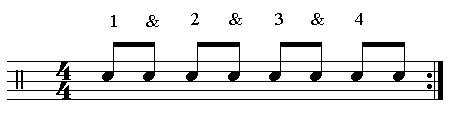 how to count eighth note